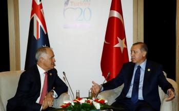 Cumhurbaşkanı Erdoğan, Avustralya Başbakanı Turnbull'u Kabul Etti