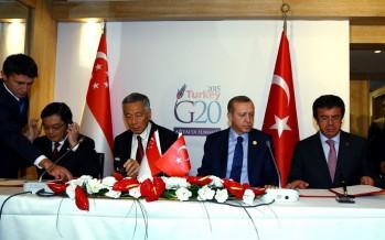 Cumhurbaşkanı Erdoğan, Singapur Başbakanı Lee'yi Kabul Etti