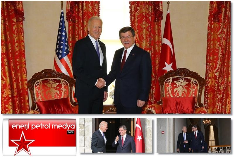 Başbakan Ahmet Davutoğlu, ABD Başkan Yardımcısı Joe Biden - A155-1