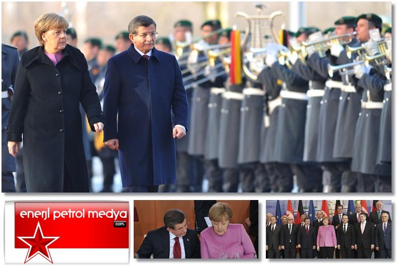Başbakan Ahmet Davutoğlu -  Almanya Başbakanı Angela Merkel - Almanya Berlin -12211