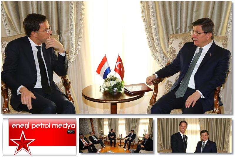 Başbakan Ahmet Davutoğlu, Hollanda Başbakanı Mark Rutte -A39