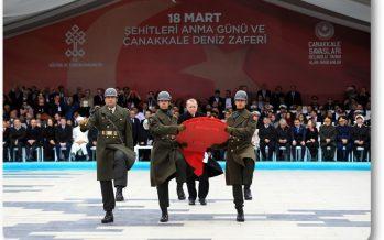 Cumhurbaşkanı Erdoğan, Çanakkale Şehitler Abidesi'ndeki törene katıldı