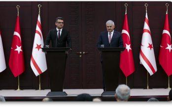 """Başbakan Binali Yıldırım,""""Türkiye şartlar ne olursa olsun Kıbrıs Türkünün yanındadır"""""""