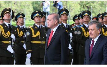 Cumhurbaşkanı Erdoğan, Özbekistan Cumhurbaşkanı Mirziyoyev ile bir araya geldi