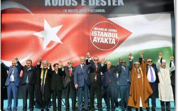 """Cumhurbaşkanı Erdoğan, """"Zulme Lanet Kudüs'e Destek"""" mitinginde konuştu"""