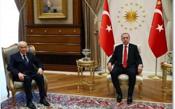 Cumhurbaşkanı Erdoğan, MHP Genel Başkanı Devlet Bahçeli'yi kabul etti