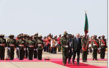 Cumhurbaşkanı Erdoğan, Zambiya Cumhurbaşkanlığı Sarayında