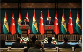 Cumhurbaşkanı Erdoğan ve Bolivya Devlet Başkanı Ayma, ortak basın toplantısı düzenledi