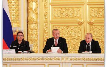 """Cumhurbaşkanı Erdoğan,""""Rusya ile enerji alanındaki iş birliğimiz, ekonomik ilişkilerimizin taşıyıcı sütunlarındandır"""""""