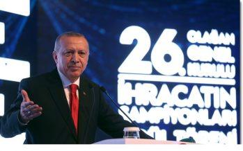 """Cumhurbaşkanı Erdoğan,""""İhracatta 200 milyar dolar sınırını geçmemiz gerekiyor"""""""
