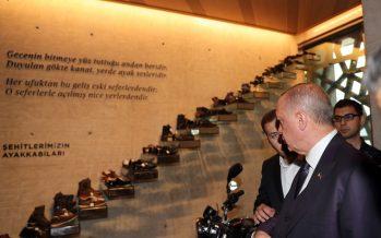 Cumhurbaşkanı Erdoğan, Hafıza 15 Temmuz Müzesi'ni ziyaret etti