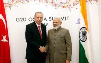 Cumhurbaşkanı Erdoğan, Hindistan Başbakanı Modi ile bir araya geldi