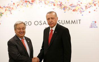 Cumhurbaşkanı Erdoğan, Birleşmiş Milletler Genel Sekreteri Guterres ile görüştü