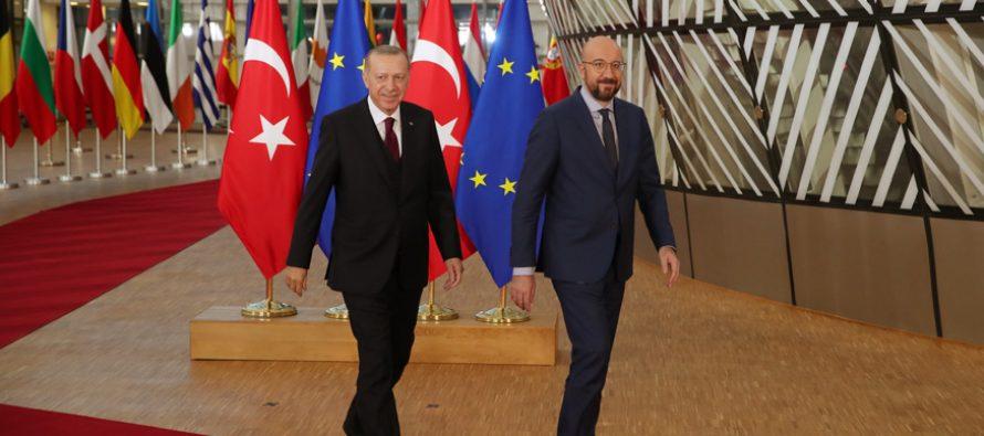 Cumhurbaşkanı Erdoğan, Avrupa Birliği Konseyi Başkanı Michel ve AB Komisyonu Başkanı von der Leyen ile görüştü