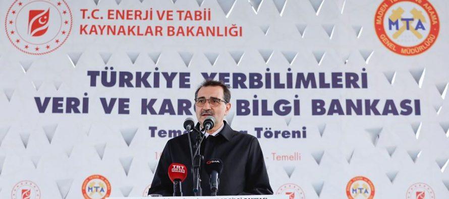 Enerji Bakanı Fatih Dönmez, Türkiye Yer Bilimleri Veri ve Karot Bilgi Bankası temel atma törenine katıldı.
