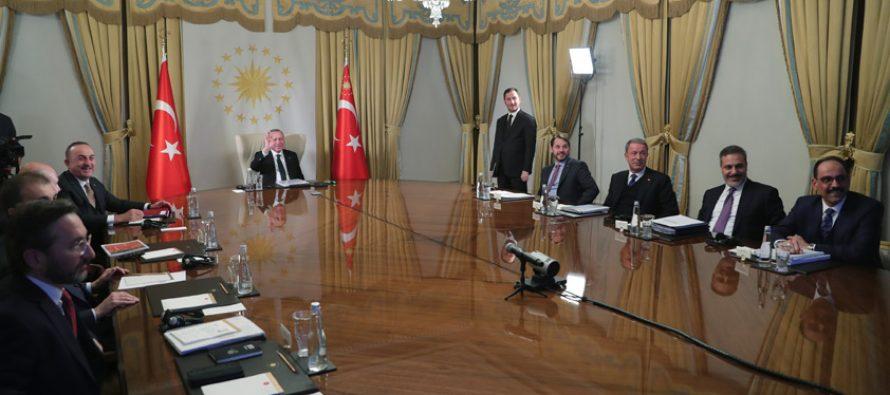 Cumhurbaşkanı Erdoğan, Fransa, Almanya ve Birleşik Krallık liderleri ile dörtlü zirve gerçekleştirdi