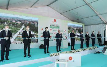 """Cumhurbaşkanı Erdoğan,""""2023 yılına kadar 81 vilayetimizin tamamını millet bahçeleriyle donatmış olacağız"""""""