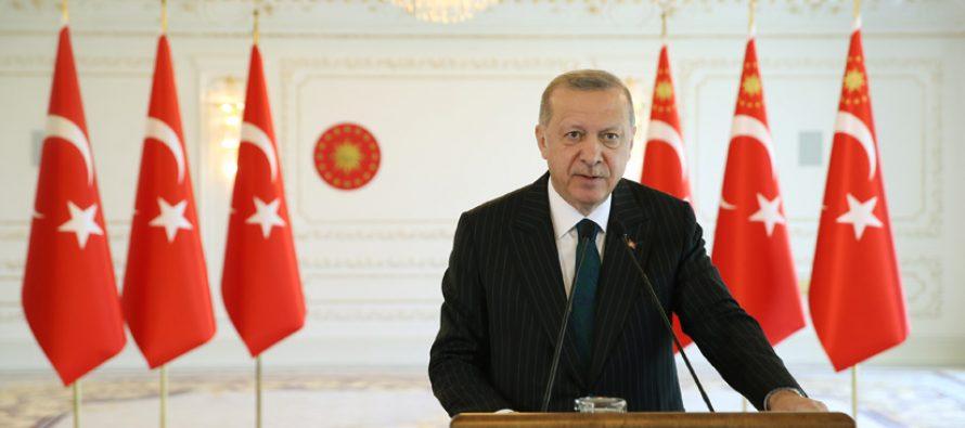 """Cumhurbaşkanı Erdoğan, """"Tüm öncü göstergeler, ülkemizin çok ciddi bir sıçramanın eşiğinde olduğuna işaret ediyor"""""""