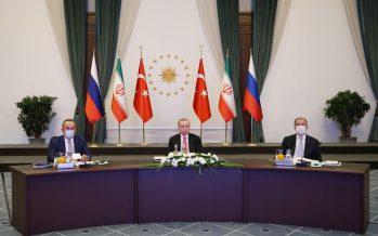 """Cumhurbaşkanı Erdoğan, """"Astana garantörleri olarak sergileyeceğimiz iş birliği Suriye'nin geleceğinde belirleyici olacaktır"""""""