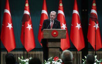 """""""Hiç kimsenin, istiklal ve istikbalimize el uzatmayı aklından dahi geçirememesi için büyük ve güçlü Türkiye'yi inşa ediyoruz"""""""