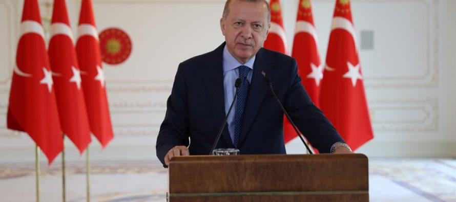 """Cumhurbaşkanı Erdoğan,""""Türkiye Cumhuriyeti Devleti'ni 2023 yılına her alanda gelişmiş, güvenli ve müreffeh bir şekilde ulaştırmakta kararlıyız"""""""
