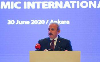 TBMM Başkanı Mustafa Şentop konuk büyükelçilere hitap etti.