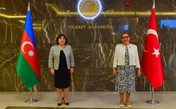 Ticaret Bakanı Ruhsar Pekcan , Azerbaycan Milli Meclis Başkanı Sahibe Gafarova ile Görüştü