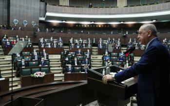 """Cumhurbaşkanı Erdoğan, """"Önümüzdeki dönem ekonomide, sağlıkta, güvenlikte olduğu gibi dış politikada da Türkiye'nin şahlanış dönemi olacaktır"""""""