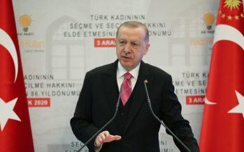 """Cumhurbaşkanı Erdoğan, """"Kadınları şiddet ve ayrımcılık başta olmak üzere, kötülüklerden korumak için her türlü tedbiri alacağız"""""""