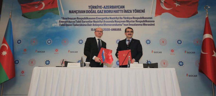 Dev yatırımlar | Türkiye-Nahçıvan Doğal Gaz Boru Hattı için imzalar atıldı