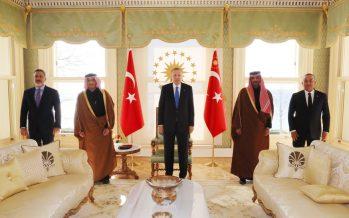 Cumhurbaşkanı Erdoğan, Katar Dışişleri Bakanı Al Sani'yi kabul etti