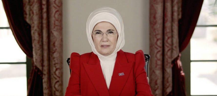 Emine Erdoğan, Güçlü Türkiye'nin Güçlü Kadınları Zirvesi'ne video mesaj gönderdi
