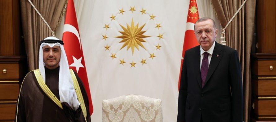 Cumhurbaşkanı Erdoğan, Kuveyt Dışişleri Bakanı ve Kabine İşlerinden Sorumlu Devlet Bakanı El-Sabah'ı kabul etti