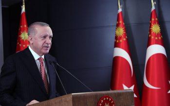 """Cumhurbaşkanı Erdoğan,""""Terörün kökünü kazımakta ve vatandaşlarımızı terör belasından tamamen kurtarmakta kararlıyız"""""""
