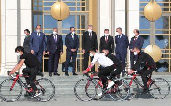 Cumhurbaşkanı Erdoğan, Cumhurbaşkanlığı Bisiklet Turu Ankara Kafilesi'ni kabul etti