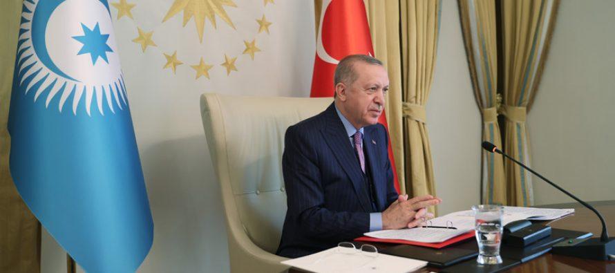 """Cumhurbaşkanı Erdoğan, """"Dünyamızın karşı karşıya kaldığı değişimler, Türk Konseyi gibi iş birliği yapılarının önemini daha da artırıyor"""""""