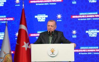 """Cumhurbaşkanı Erdoğan, """"İnşasını tamamlayacağımız büyük ve güçlü Türkiye, bizden sonraki nesillere bırakacağımız en kıymetli miras olacaktır"""""""