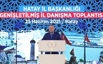 """""""Türkiye, demokraside ve kalkınmada elde ettiği kazanımlara sıkı sıkıya sahip çıkma iradesinden taviz vermeyecektir"""""""