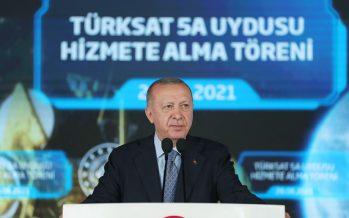 Cumhurbaşkanı Erdoğan, Türksat 5A Uydusu Hizmete Alma Töreni'ne katıldı