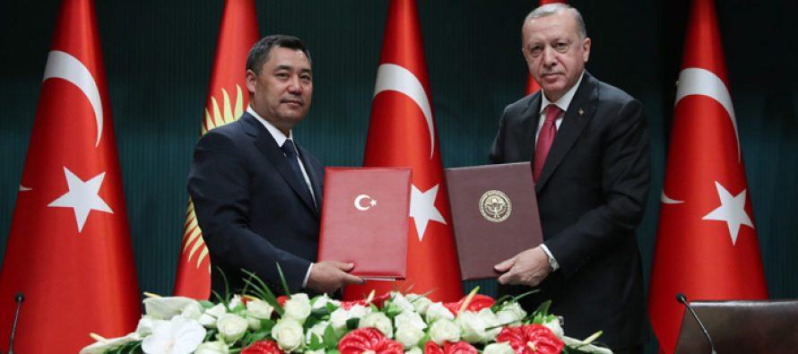 """""""Kırgızistan'la maziden atiye uzanan kardeşlik bağlarımızı daha da güçlendirerek devam ettireceğiz"""""""