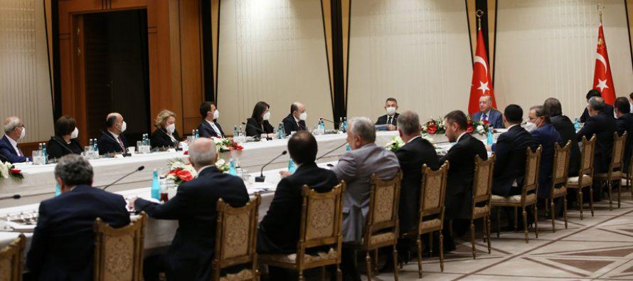 Cumhurbaşkanı Erdoğan, Marmara Denizi'nde görülen müsilaj sorununa ilişkin özel toplantıya başkanlık etti