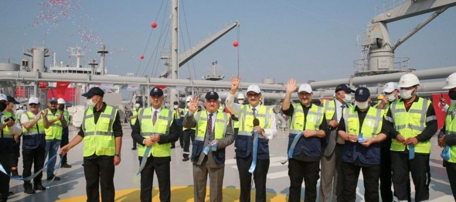 Dev Yatırımlar | Türkiye'nin ilk doğal gaz depolama gemisi Ertuğrul Gazi hizmete girdi