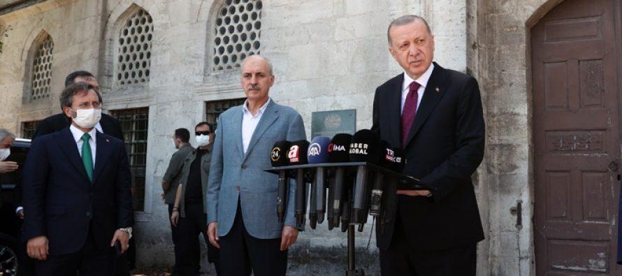 Cumhurbaşkanı Erdoğan, Cuma namazını Ayasofya-i Kebir Cami-i Şerifinde kıldı