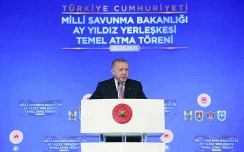 Dev Yatırımlar   Cumhurbaşkanı Erdoğan, Milli Savunma Bakanlığı Ay Yıldız Projesi Temel Atma Töreni'ne katıldı