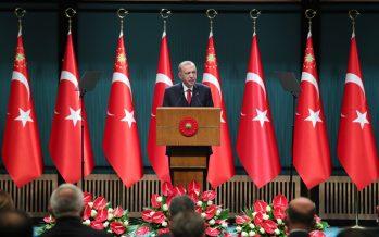 """""""Ülkemizi; yatırım, üretim, ihracat, istihdam temelleri üzerinde büyütmeyi sürdüreceğiz"""""""