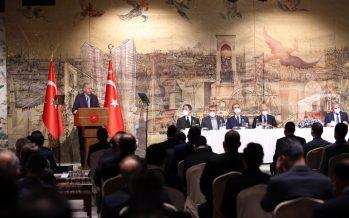Cumhurbaşkanı Erdoğan, Uluslararası Demokratlar Birliği heyetini kabul etti